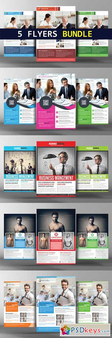5 Corporate Business Flyers Bundle 166750