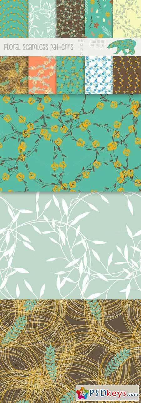 Floral seamless patterns 93979