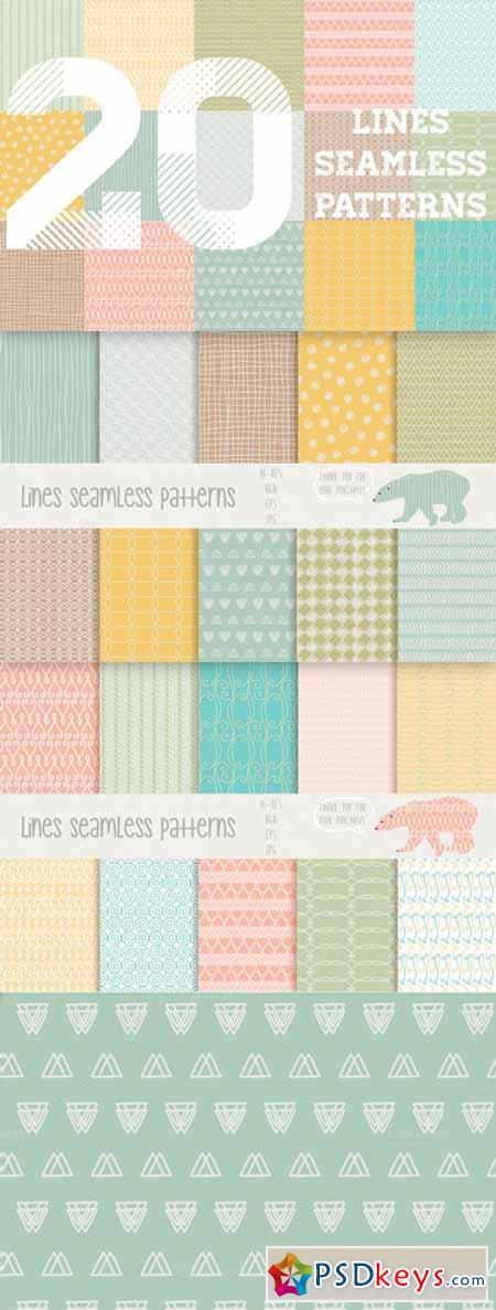 Lines seamless patterns 95596