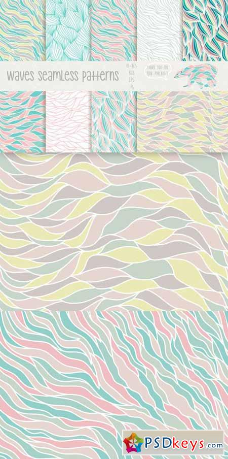 Waves seamless patterns 80493