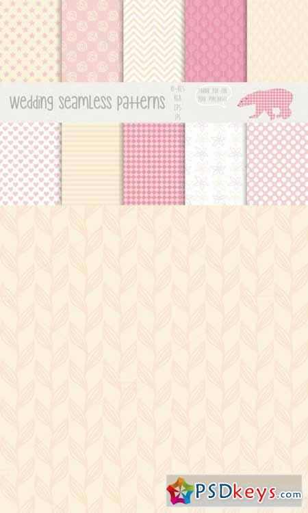Wedding seamless patterns 57744