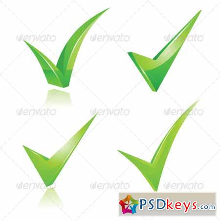 Green Checkmark Set 6732151