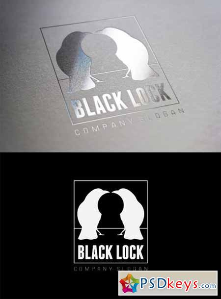 Black Lock Logo 30587