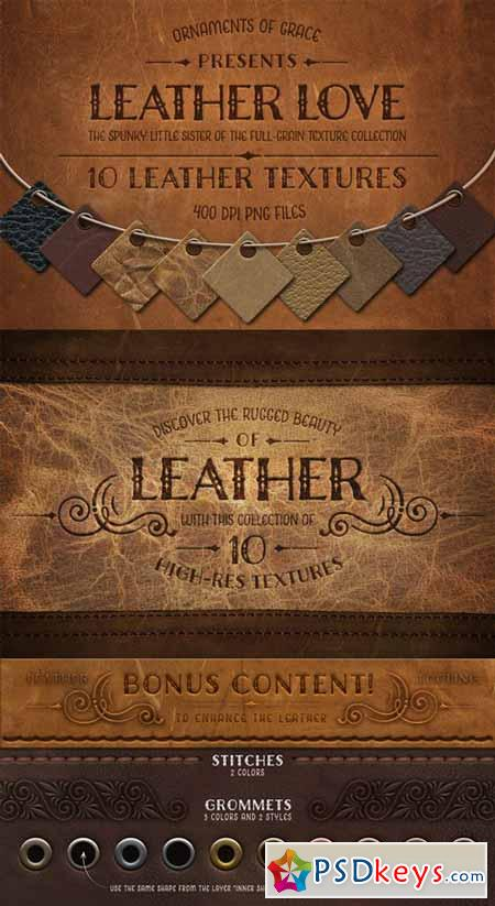 Leather Love - 10 Leather Textures 11898