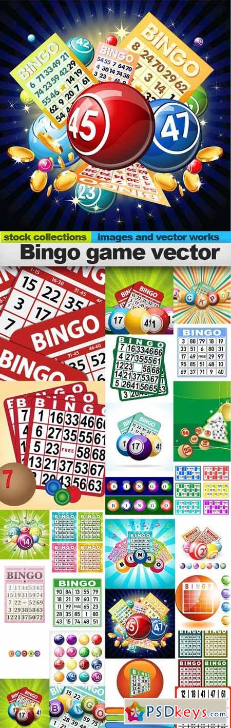 Bingo game vector,25 x EPS