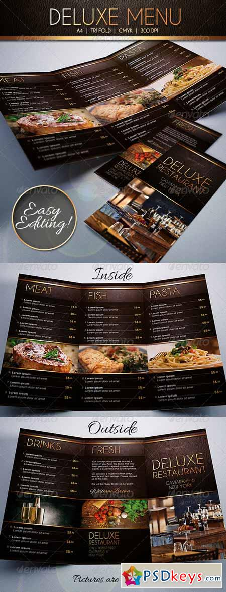 deluxe food menu template tri fold 6964986 free download photoshop vector stock image via. Black Bedroom Furniture Sets. Home Design Ideas