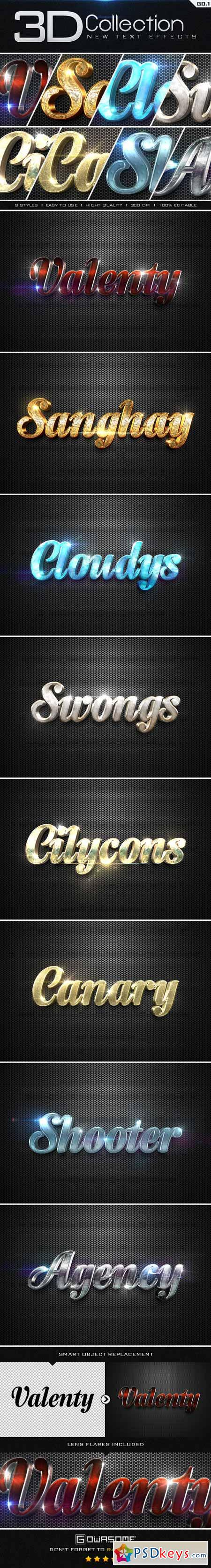 New 3D Collection Text Effects GO.1 9561348