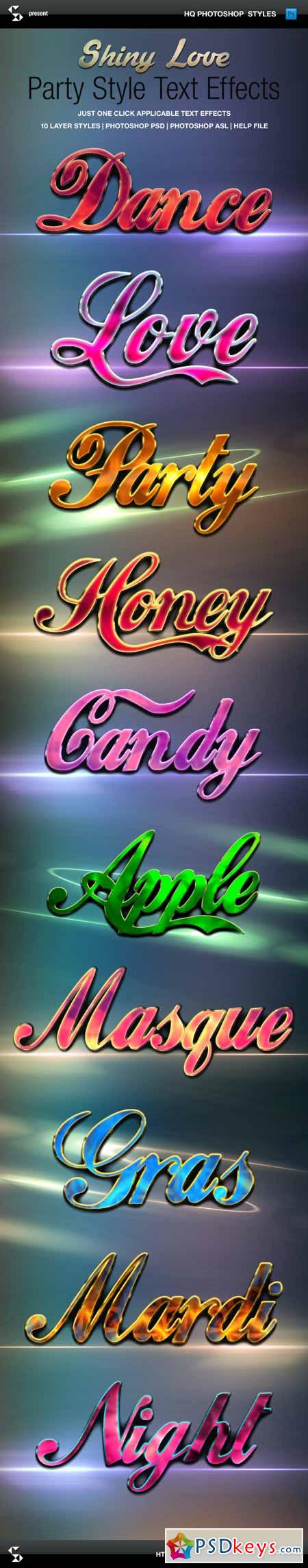 Shiny Love Party Style Text Effects 10027902
