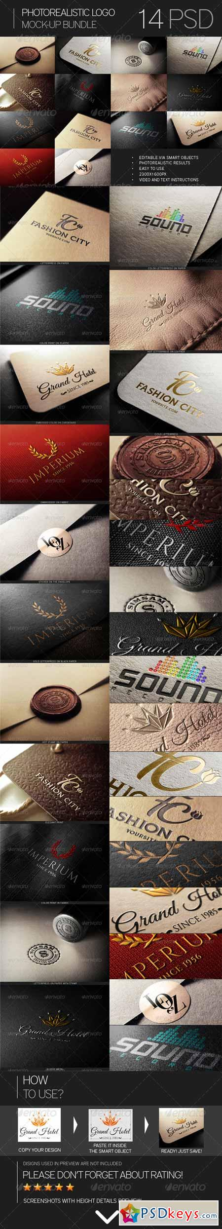 Photorealistic Logo Mock-Up Bundle 7394151 » Free Download