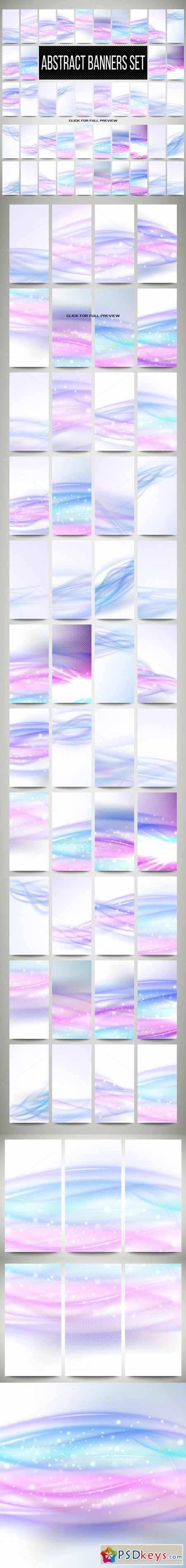 Abstract banners set 181481
