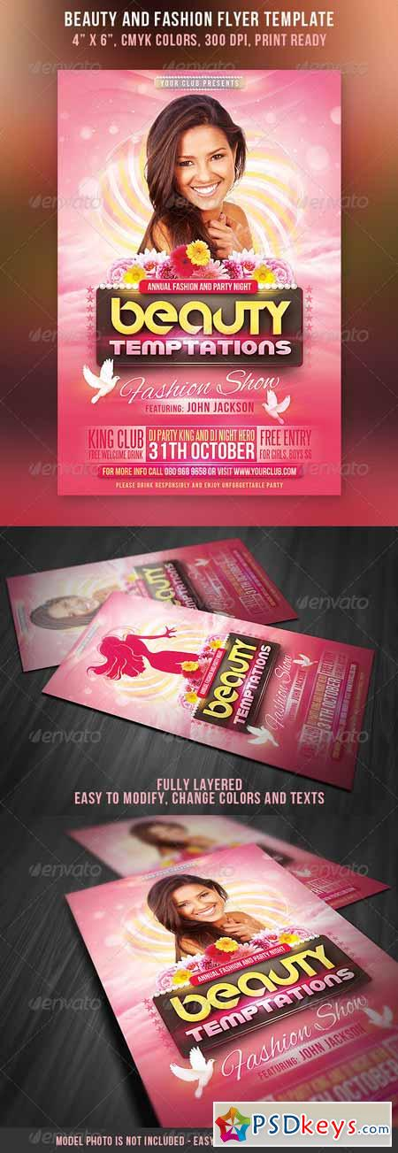 Beauty and Fashion Party Flyer 3107502