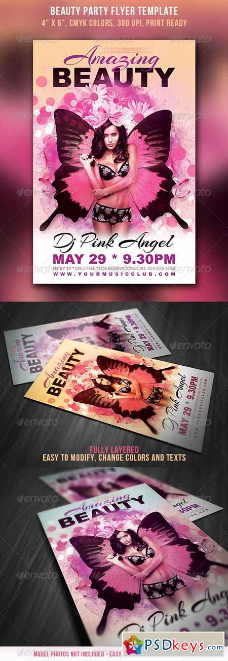 Beauty Party Flyer 4414535