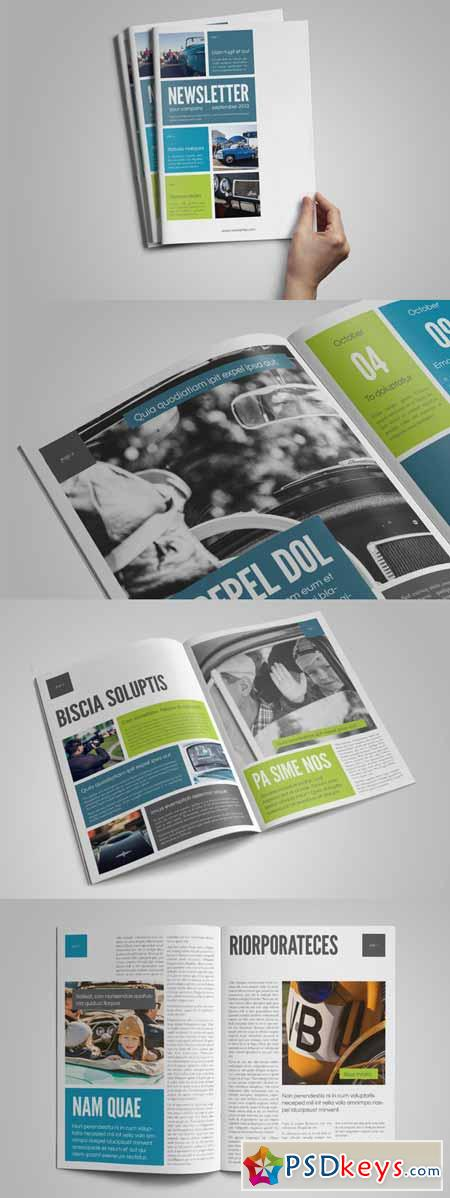 InDesign Newsletter Template 176541 » Free Download Photoshop Vector ...