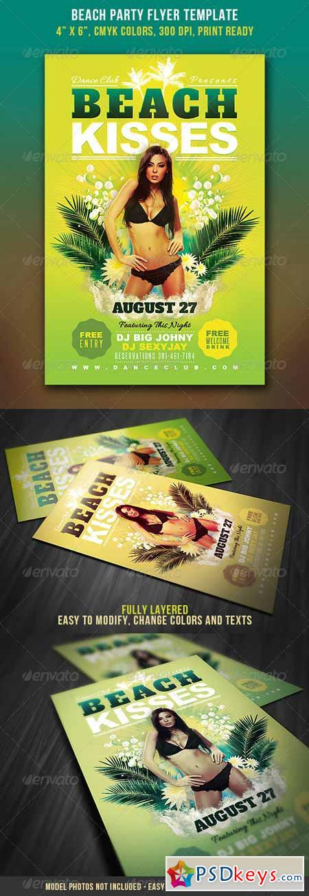 Beach Party Flyer 4310539