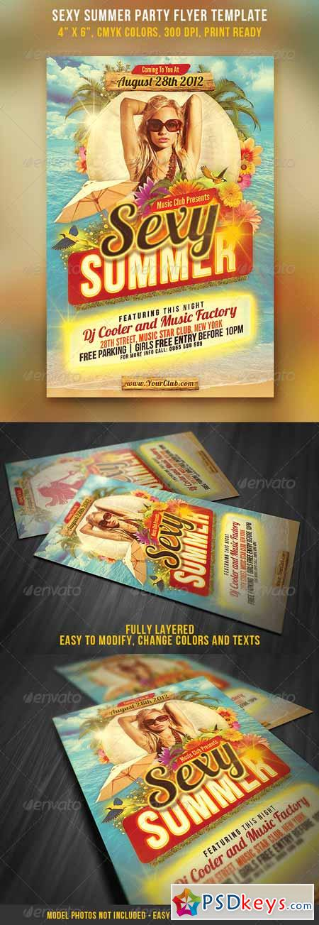 Sexy Summer Party Flyer Template 2748266