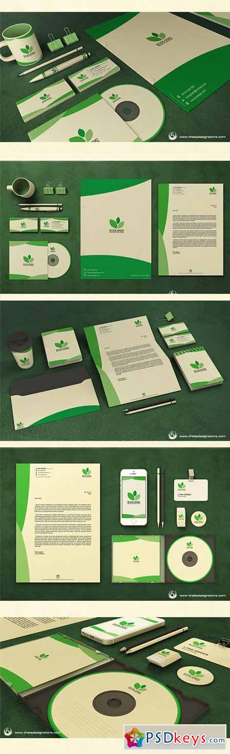 Green & Ecologic Corporate Identity 182333