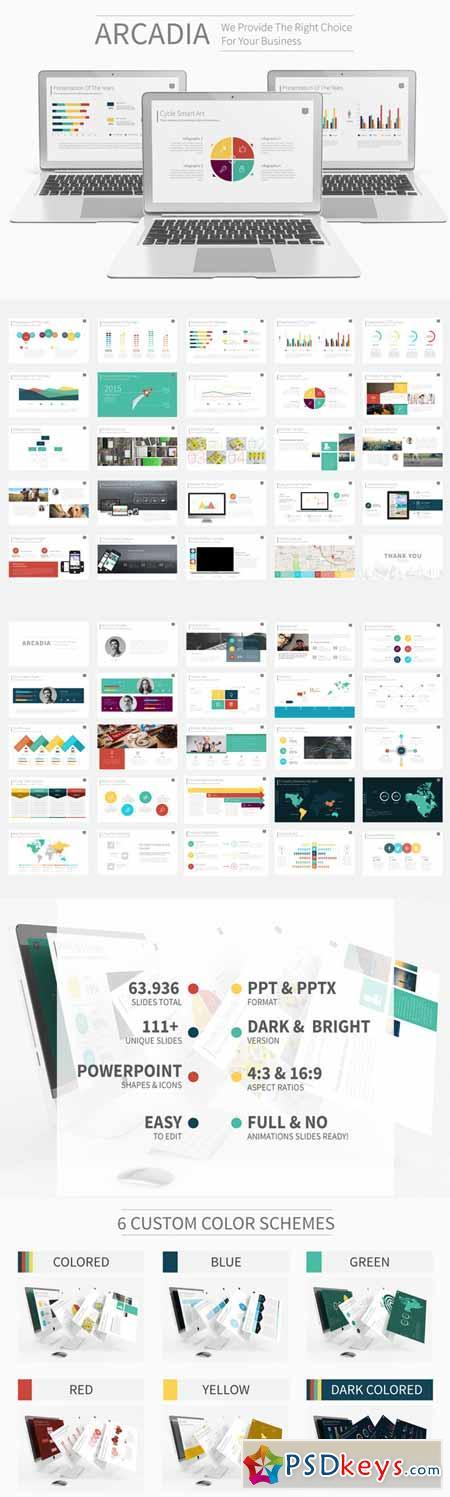 arcadia presentation template 174598 » free download photoshop, Presentation templates