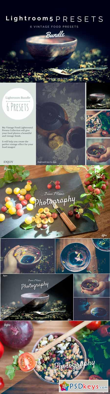 6 LR Presets Vintage Food Photos 177671