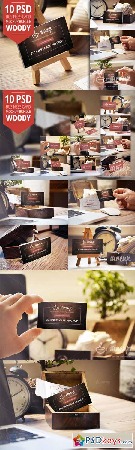 10 PSD Business Card Mockup Budle W1 184334