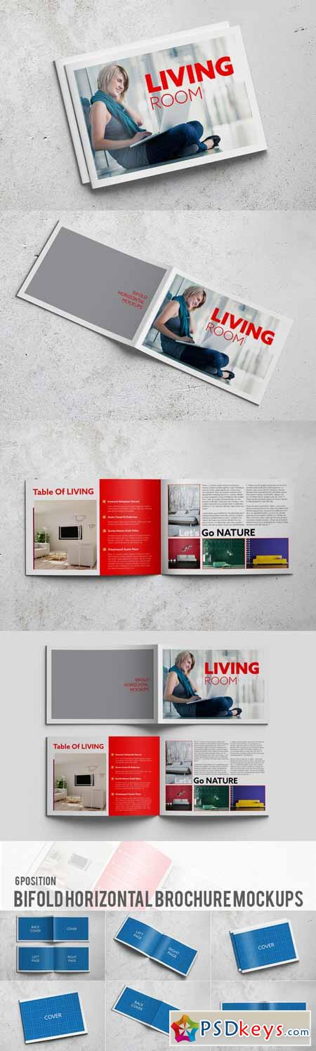 Bifold horizontal brochure mockups 185768 free download for Horizontal brochure design