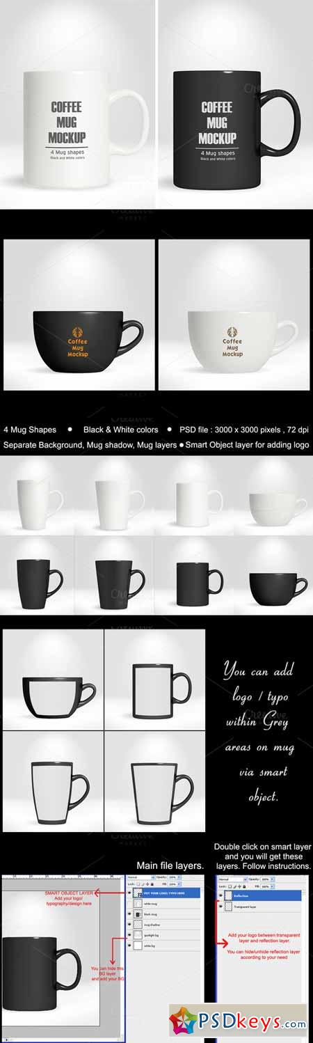 Coffee Mug Cup Mockup vol.1 185933