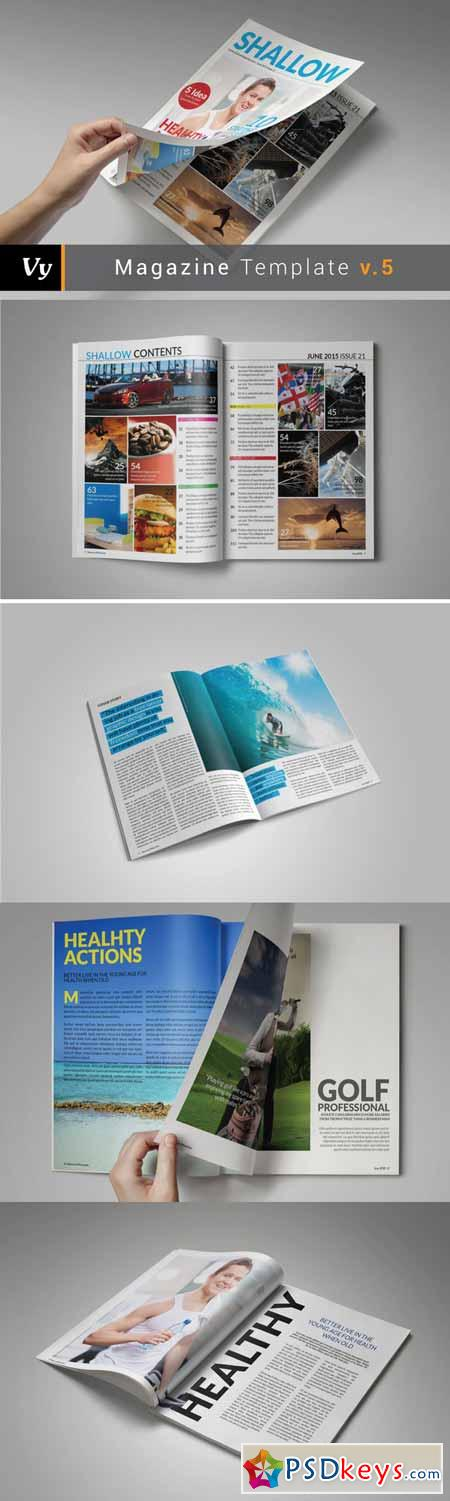 Shallow Magazine Template 178382