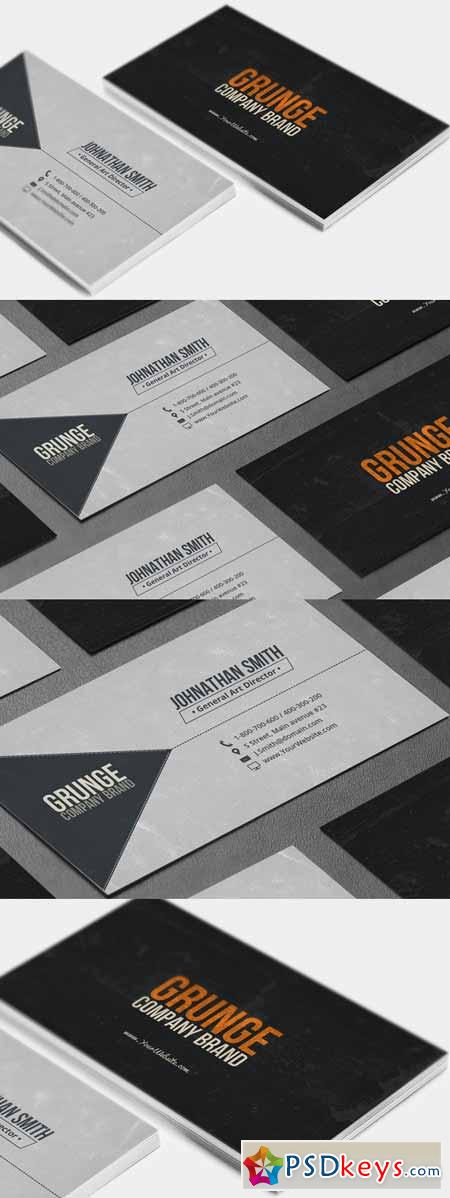 Grunge Business Card 179206