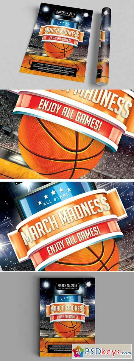 NCAA March Madness 2015 Flyer Poster 180312