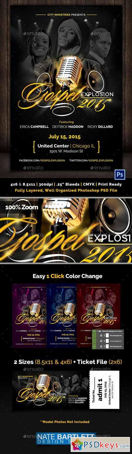 Gospel Explosion Flyer Template 10287037 Free Download Photoshop