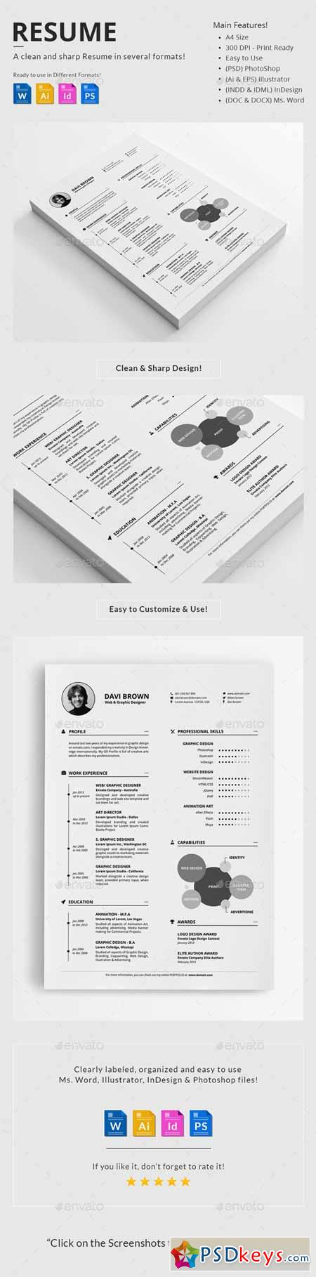 resume 10037229  u00bb free download photoshop vector stock image via torrent zippyshare from psdkeys com
