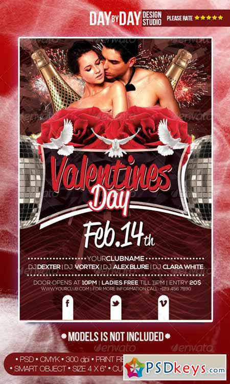 Valentines Day Flyer 6686809