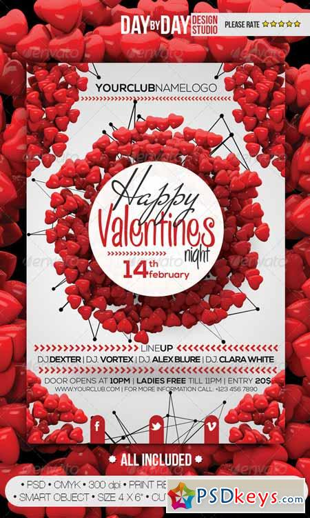 Happy Valentines Night Flyer 6712041
