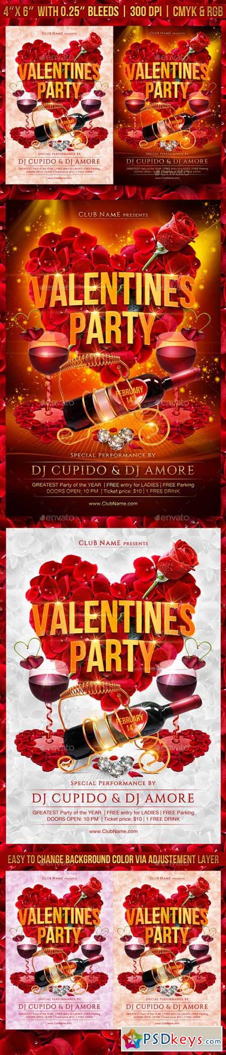 Valentines Day Party Flyer 10037795