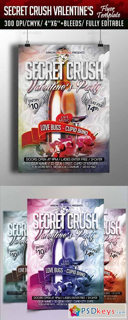 Secret Crush Valentine's Flyer Template 10102934