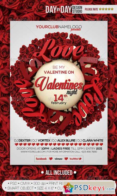 Valentines Night Flyer 6726184