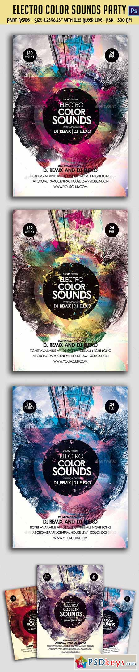 Electro Color Sounds Party Flyer 10379803
