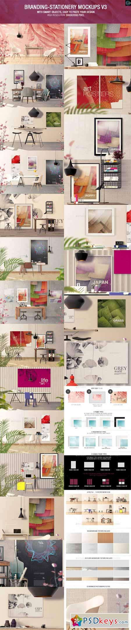 Art Wall Mockups - Interior Work Desk 10409605