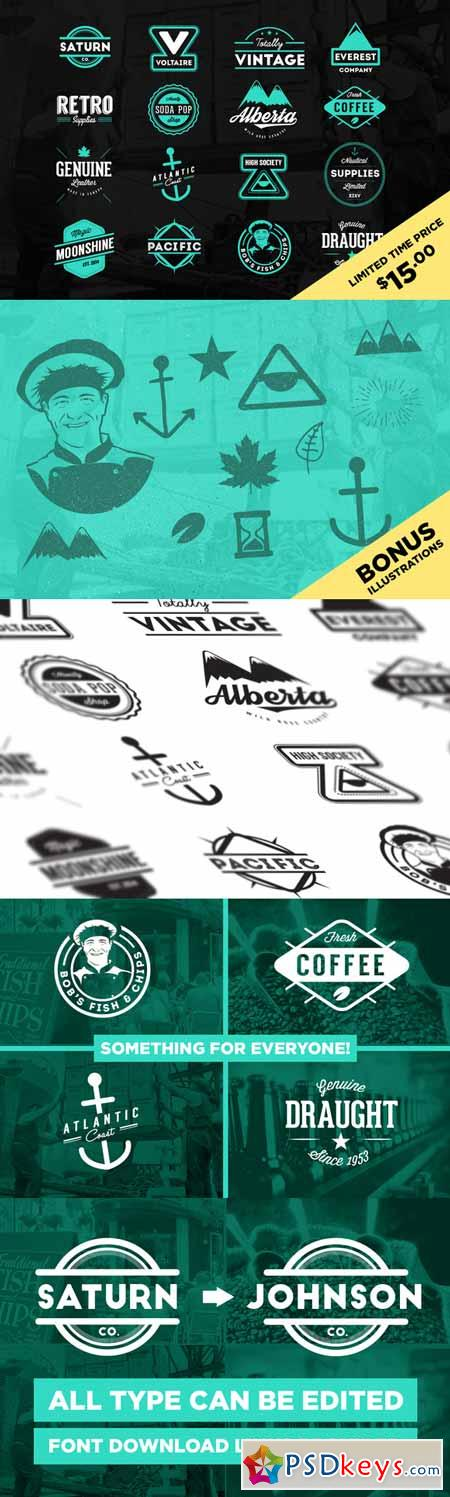 Retro Logos & Badges (Limited Time) 189463