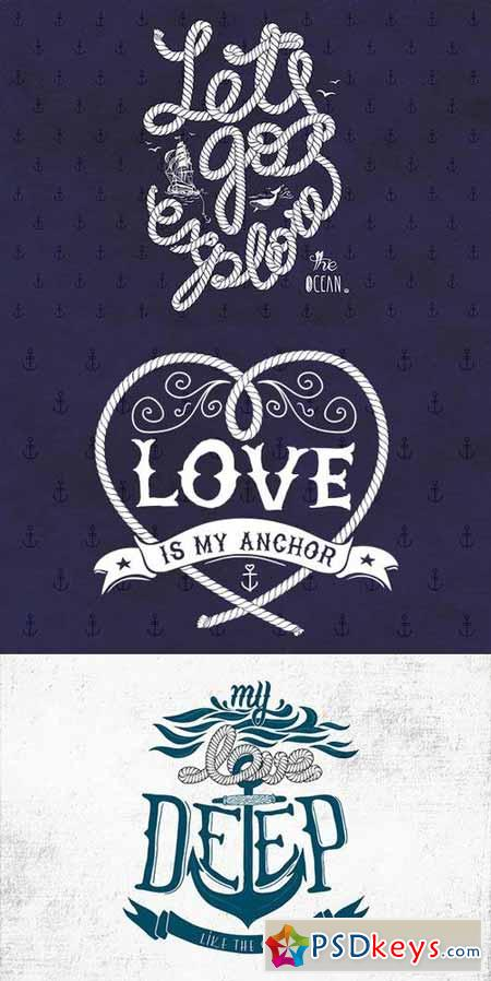 Set of Nautical Vector Illustrations 56650