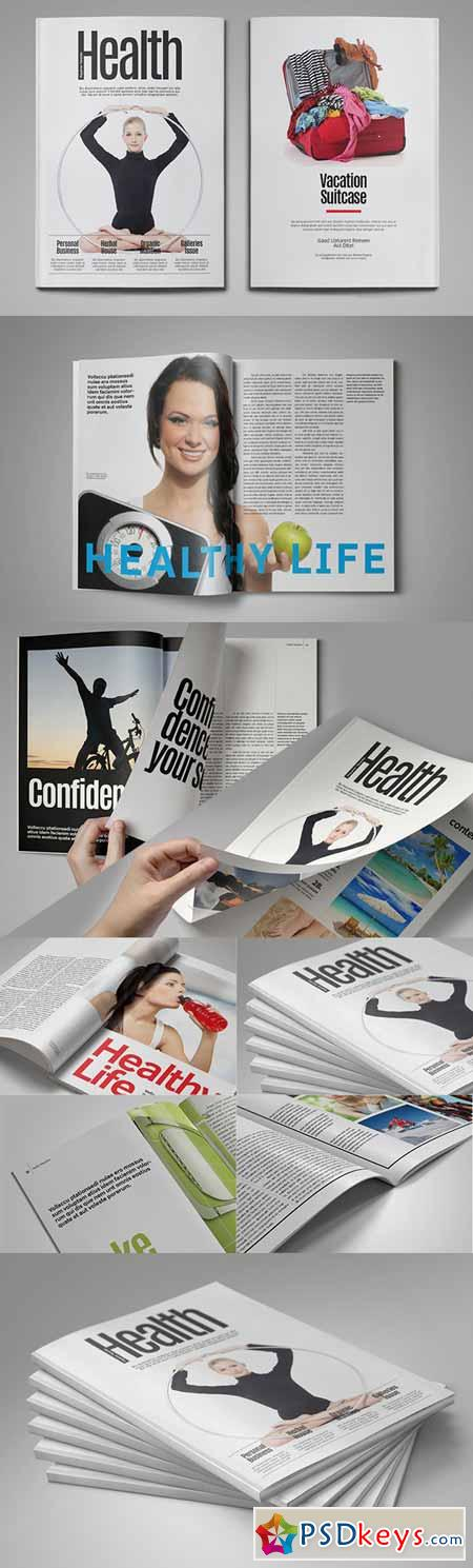 Health Magazine Template 191671