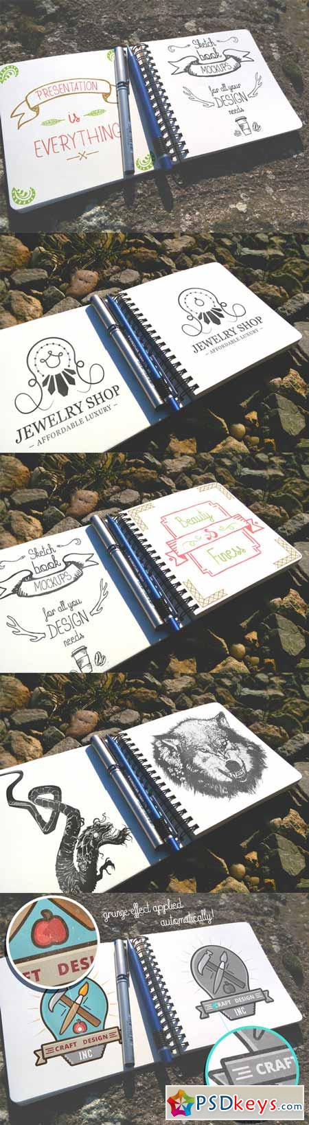 Outdoor Sketchbook Mock-up 193108