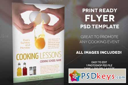 cooking lessons 2 a4 flyer template 195845