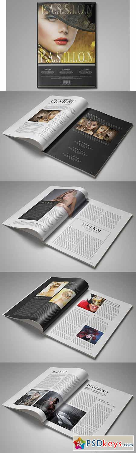 Fashion InDesign Magazine Template 98927