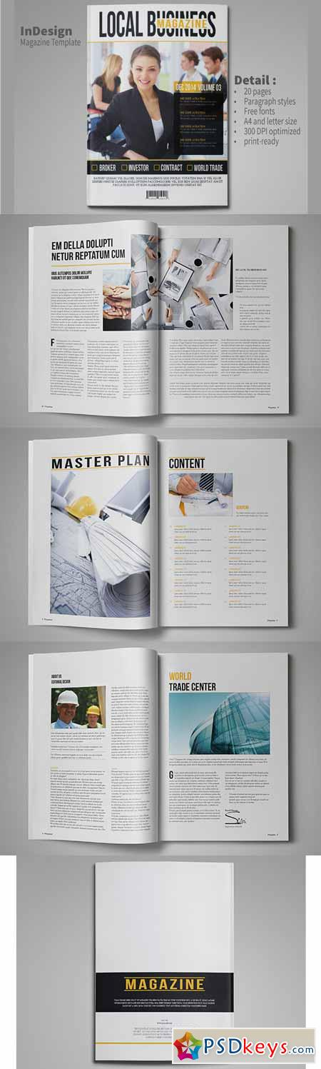 Business Magazine Template 102824