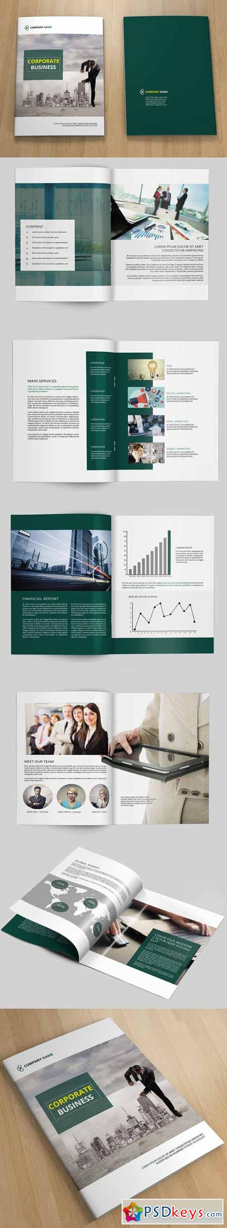 InDesign Corporate Brochure -12page 198799