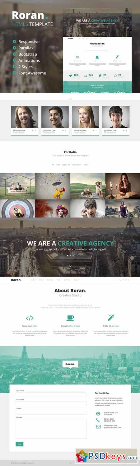 Roran - One Page Bootstrap Template 71081