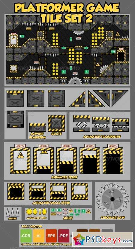 Platformer Game Tile Set 2 4146944 » Free Download Photoshop