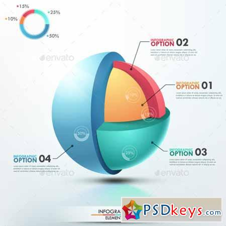 Modern Infographic Options Template 9183261 » Free Download ...