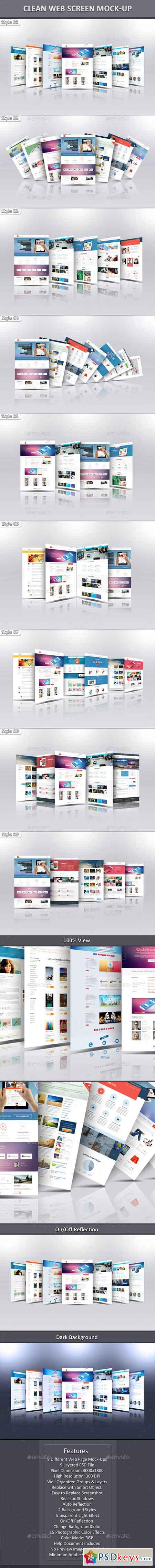 Clean Web Screen Mock-Up 10466689