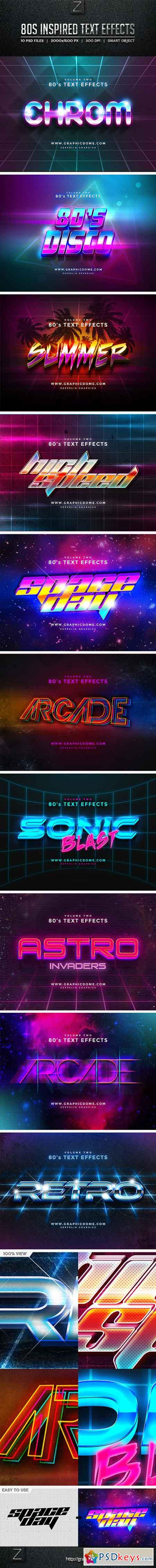 80s Text Effects 10256165